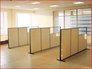 Установка перегородок в офисе для зонирования