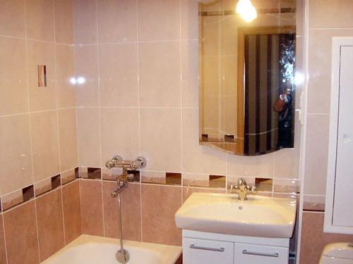 Пример окончания ремонта ванной комнаты в 5 этажке