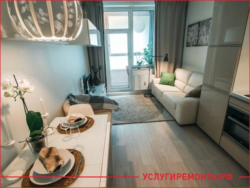 Фото примера готовой квартиры-студии после ремонта