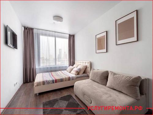 Фото спального места квартиры студии
