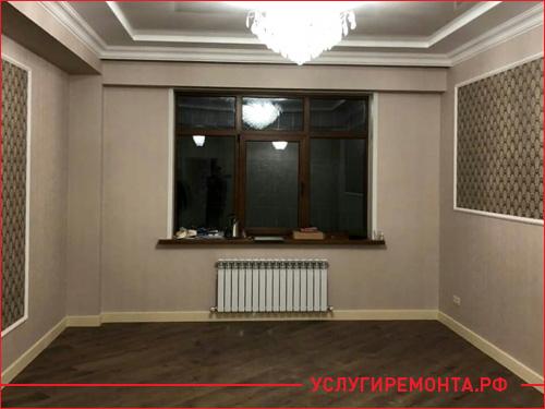 Результат ремонта гостинной в трехкомнатной квартире