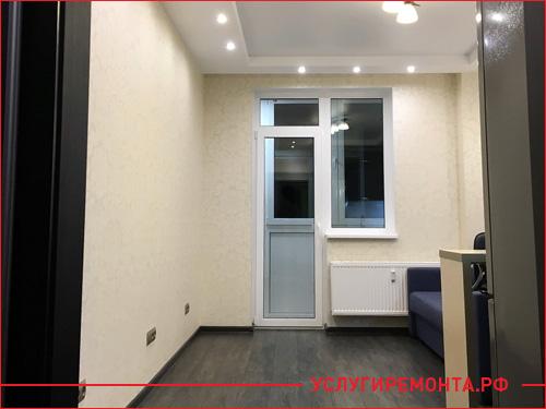 Общий вид комнаты после ремонта квартиры-студии