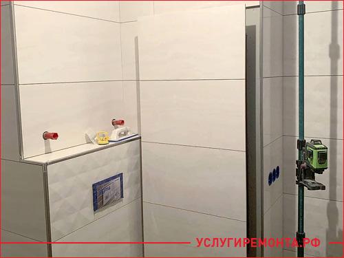 Красивый ремонт в ванной комнате и туалете