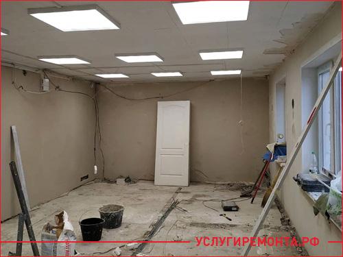 Процесс ремонта офисного кабинета