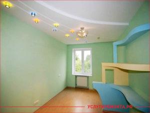Детская комната в зеленом цвете после ремонта