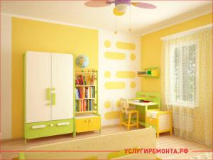 Ремонт детской для девочки в теплых бежевых и светлых цветах