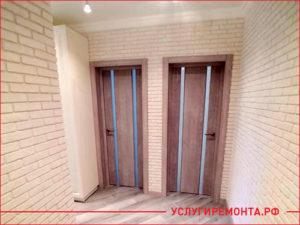 Закончен ремонт квартиры в старом доме, установили двери, ламинат и стены выровняли