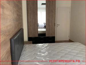 Евроремонт спальни в трехкомнатной квартире
