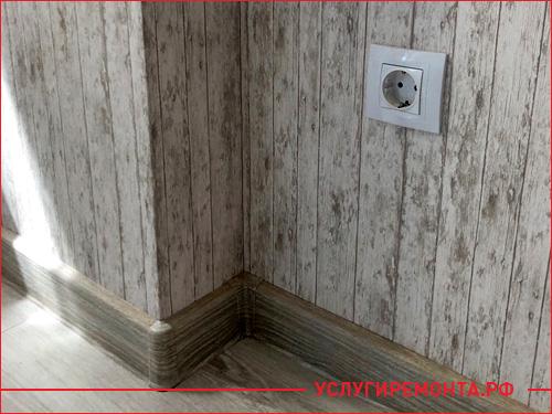 Укладка ламината и деревянного плинтуса в квартире