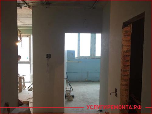Капитальный ремонт двух комнатной квартиры с заменой проводки