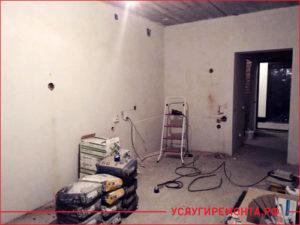 Начало ремонта квартиры студии
