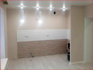 Создание светильников на кухне-студии в квартире