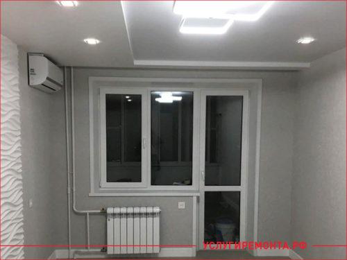 Общий вид комнаты после проведения ремонта