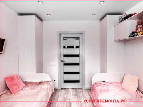 Ремонт детской комнаты для девочек с двумя кроватями