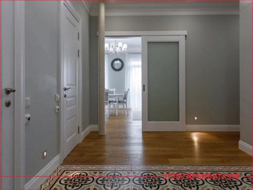 Ремонт большой трехкомнатной квартиры в коридоре