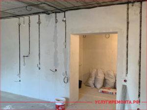 Начало ремонта в четырехкомнатной квартире